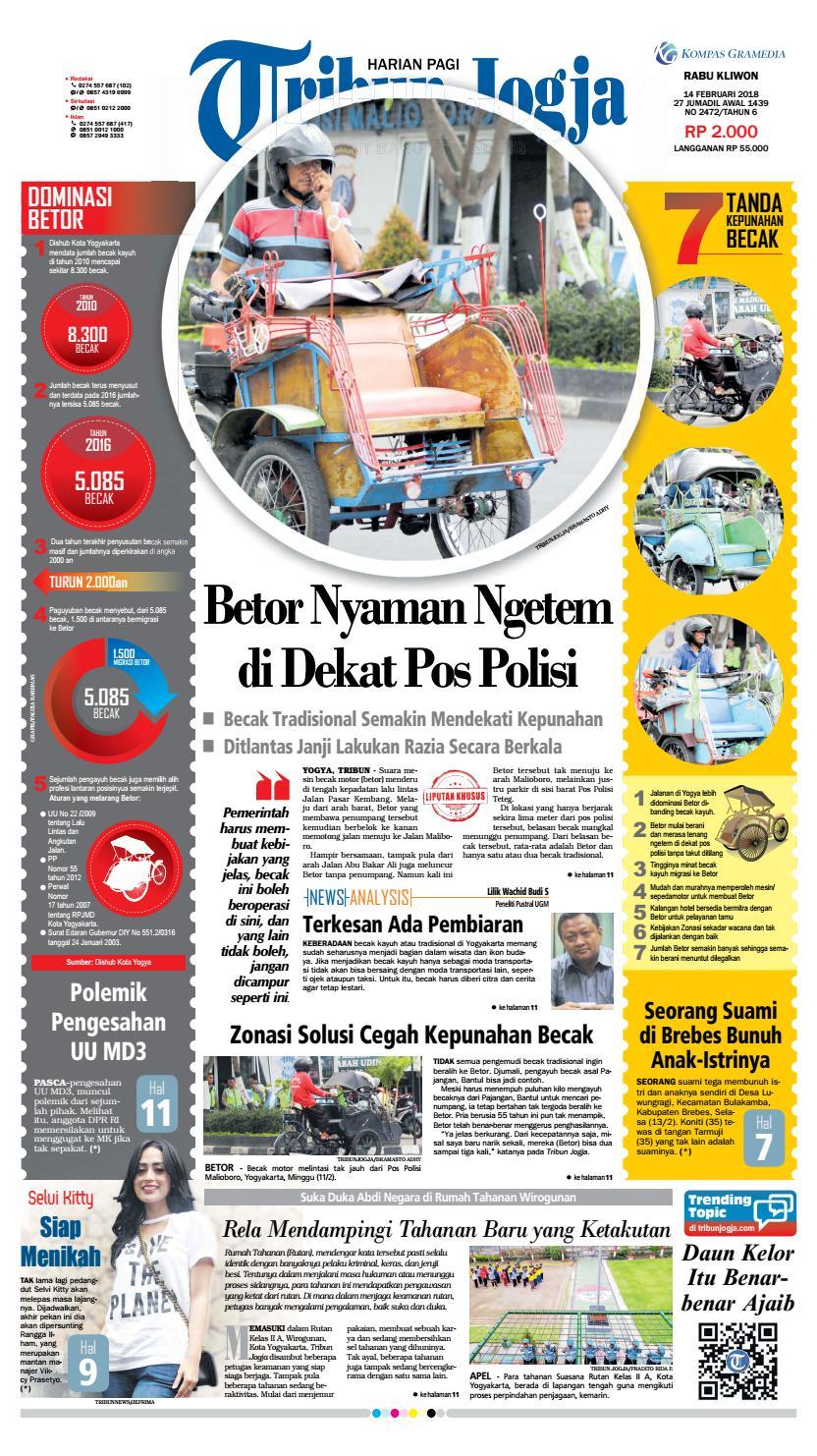 Tribunjogja 14 02 2018 By Tribun Jogja Issuu Produk Ukm Bumn Bahan Songket Sulam Katun Merah