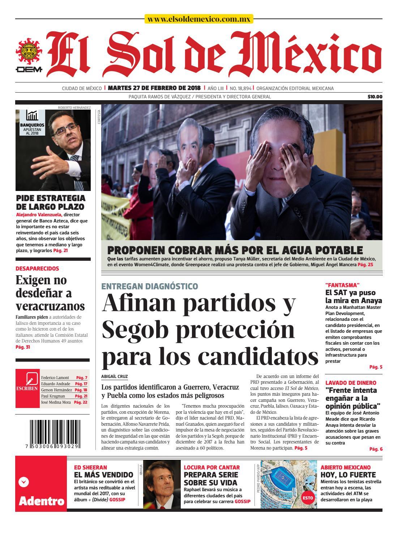 454e060b27cc El Sol de México 27 de febrero 2018 by El Sol de México - issuu