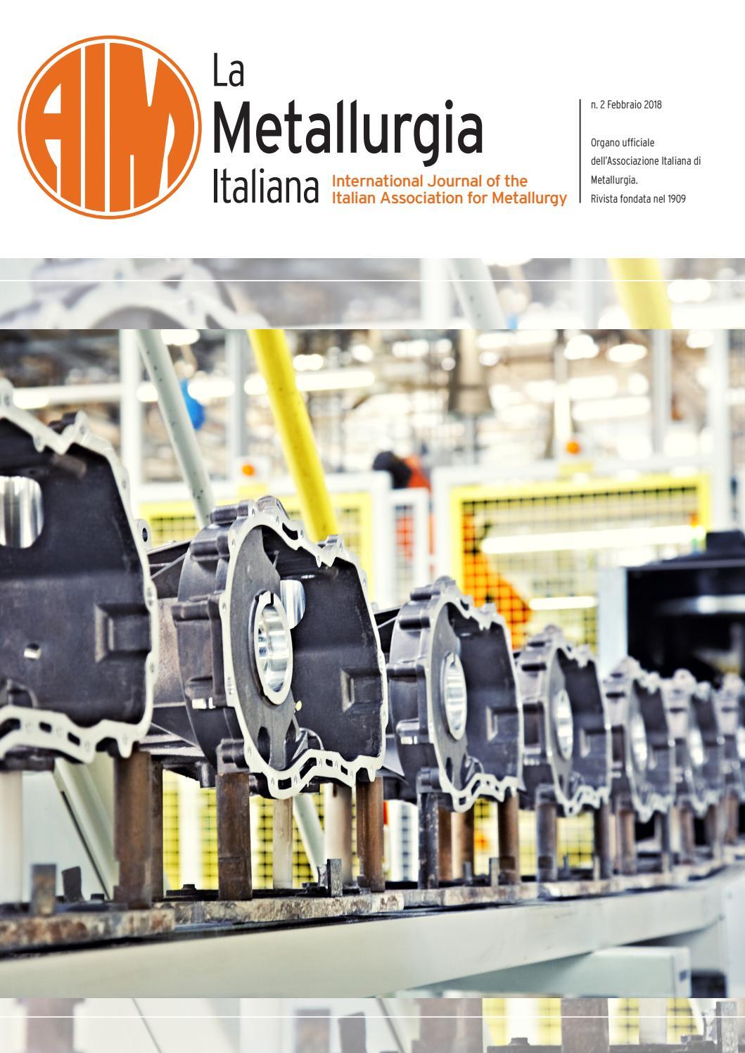 0e39f86a65 La Metallurgia Italiana - Febbraio 2018 by aimnet3 - issuu