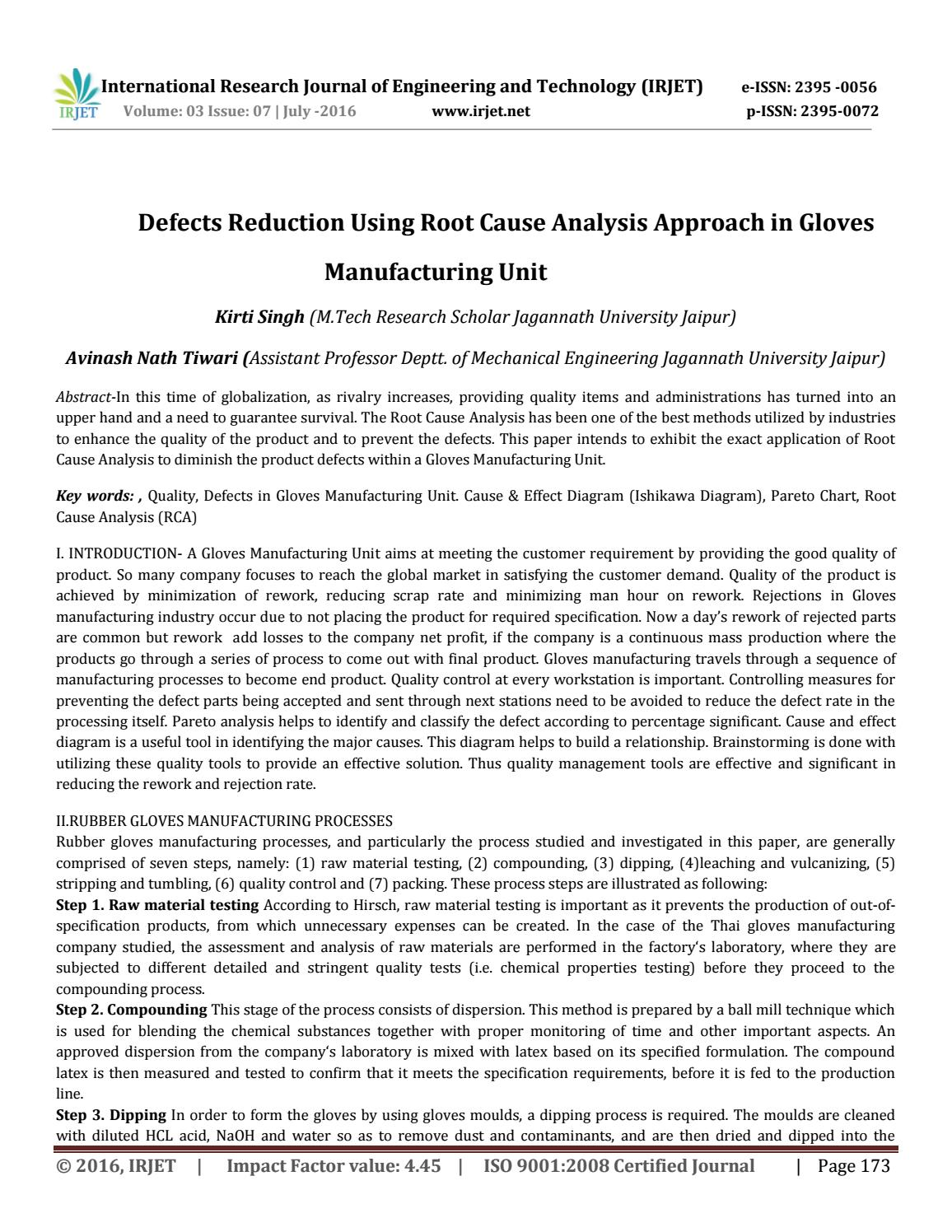 Irjet defects reduction using root cause analysis approach in irjet defects reduction using root cause analysis approach in glovesmanufacturing unit by irjet journal issuu ccuart Image collections