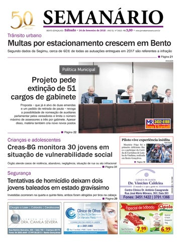 Jornal Semanário - 24 de fevereiro de 2018 - Ano 51 - Nº 3415 by ... a3b9f48809