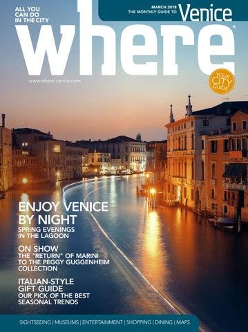 3366df6bf2 Where Venice n 19 March 2018 by Where Italia - issuu