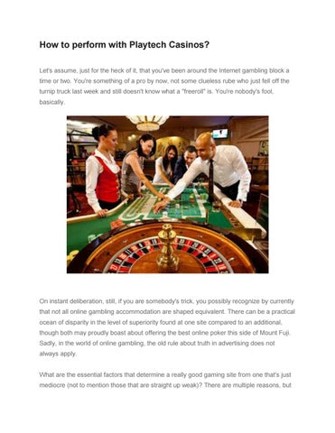 How To Perform With Playtech Casinos By Liveonlinecasino Issuu