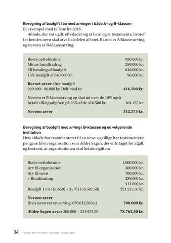 beregning af arveafgift