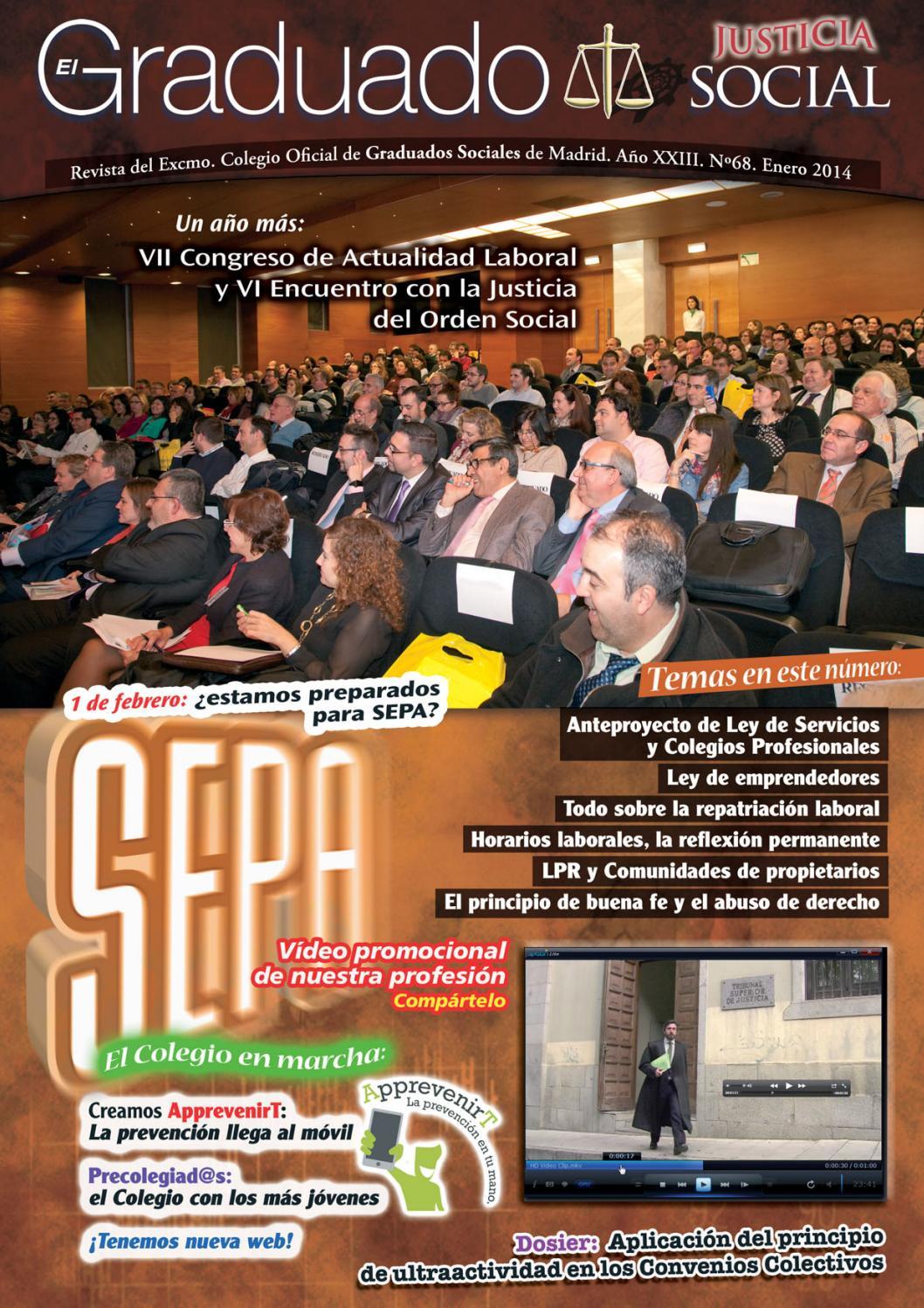 El Graduado nº 68 | Enero 2014 by Excelentísimo Colegio Oficial de ...