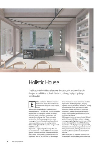 Arc februarymarch 2018 issue 102 by mondiale publishing issuu holistic house the blueprint of ori house features the clean chic and eco friendly designs from ekkis and studio mcleod utilising daylighting design from malvernweather Choice Image