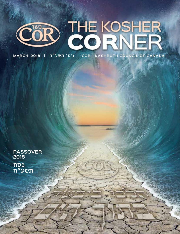 3de7559728d COR Kosher CORner Passover Magazine by COR - Kashruth Council of ...