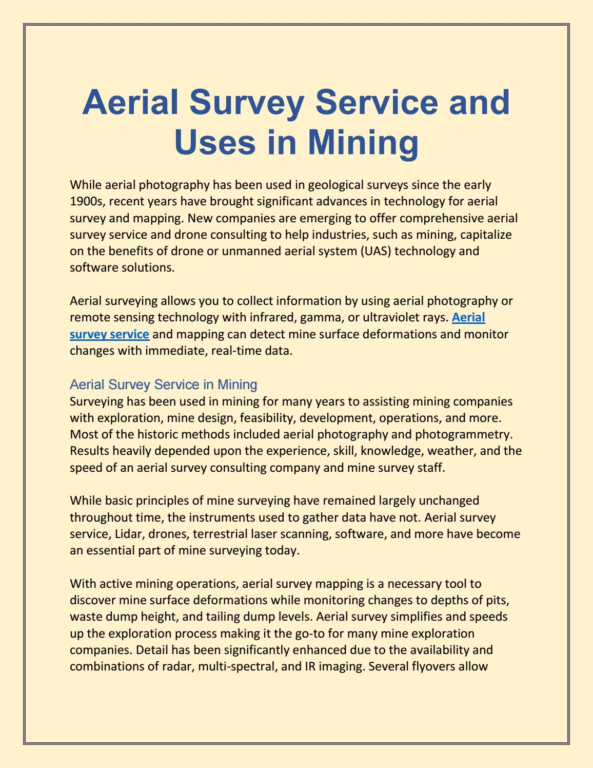 Aerial survey consulting by Ron Poul - issuu
