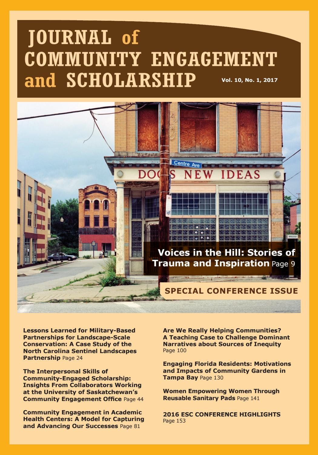 Journal of Community Engagement and Scholarship | Vol  10, No  1 by