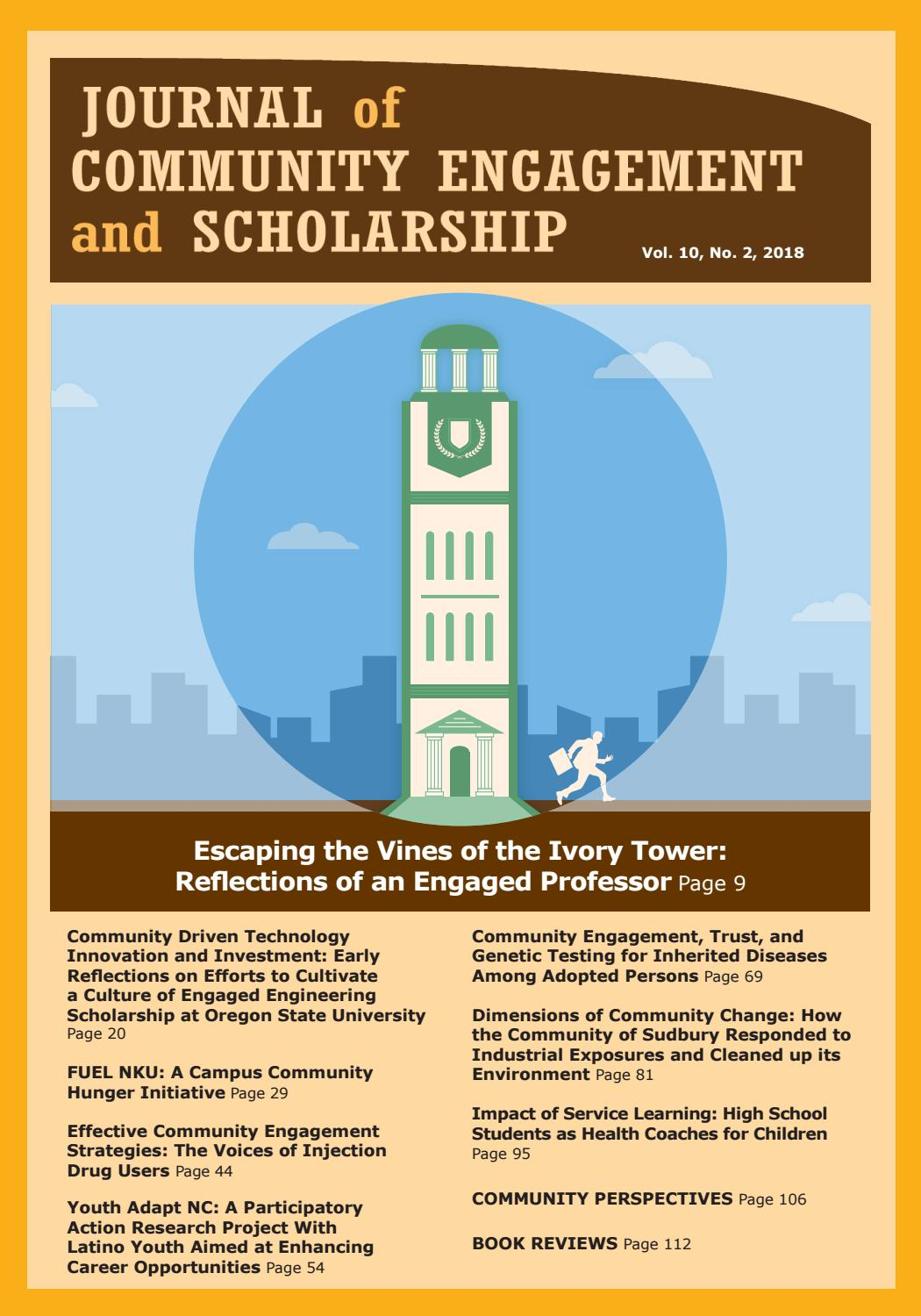 Journal of Community Engagement and Scholarship | Vol  10