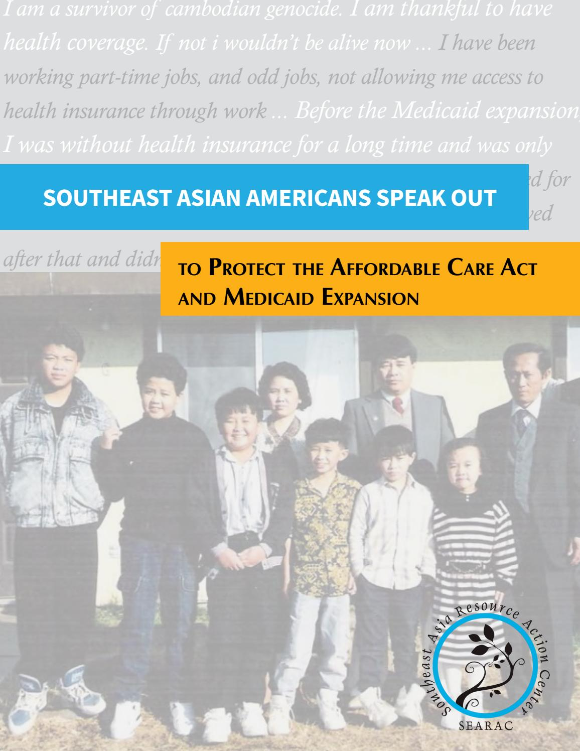 Southeast Asian Americans Speak Out to Protect the ACA and