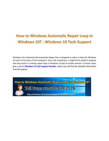 Automatic repair loop in windows 10 by Windows10 Technical