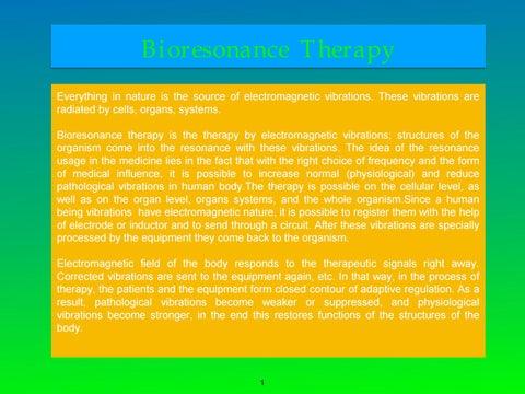 Bioresonance Therapy Presentation by biomedistrinity - issuu