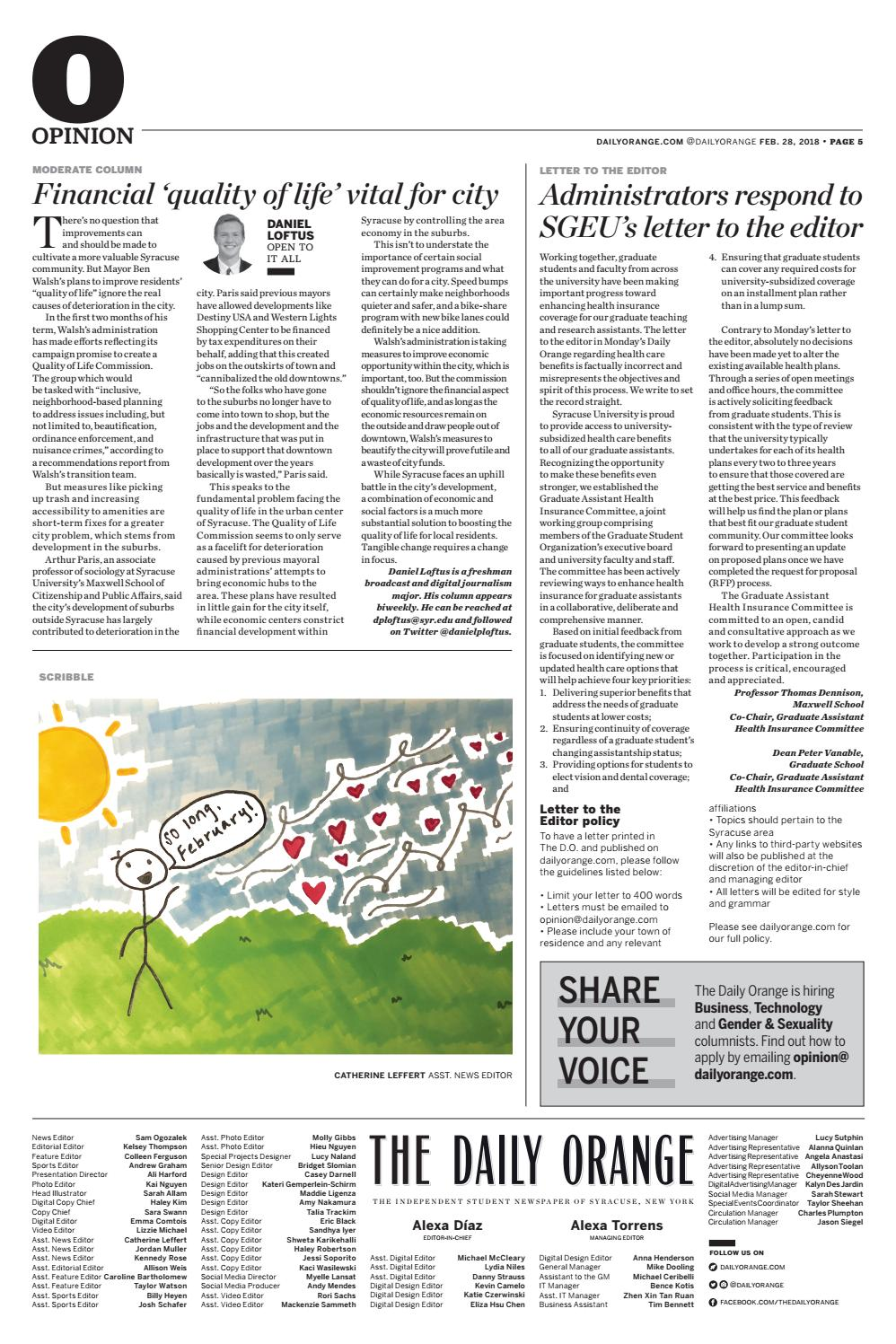 Feb. 28, 2018 by The Daily Orange - issuu