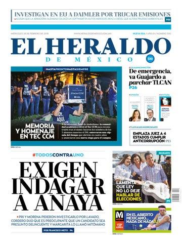 2ffd14e5c6bf El Heraldo de México 28 de febrero de 2018 by El Heraldo de México ...
