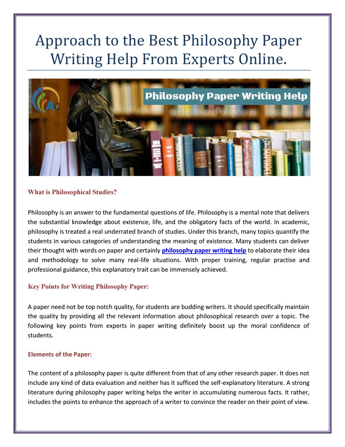 Teaching Essay Writing High School Approach To The Best Philosophy Paper Writing Help From Experts Online By  Assignmentconsultancy  Issuu Proposal For An Essay also Research Paper Essay Examples Approach To The Best Philosophy Paper Writing Help From Experts  Personal Essay Examples For High School