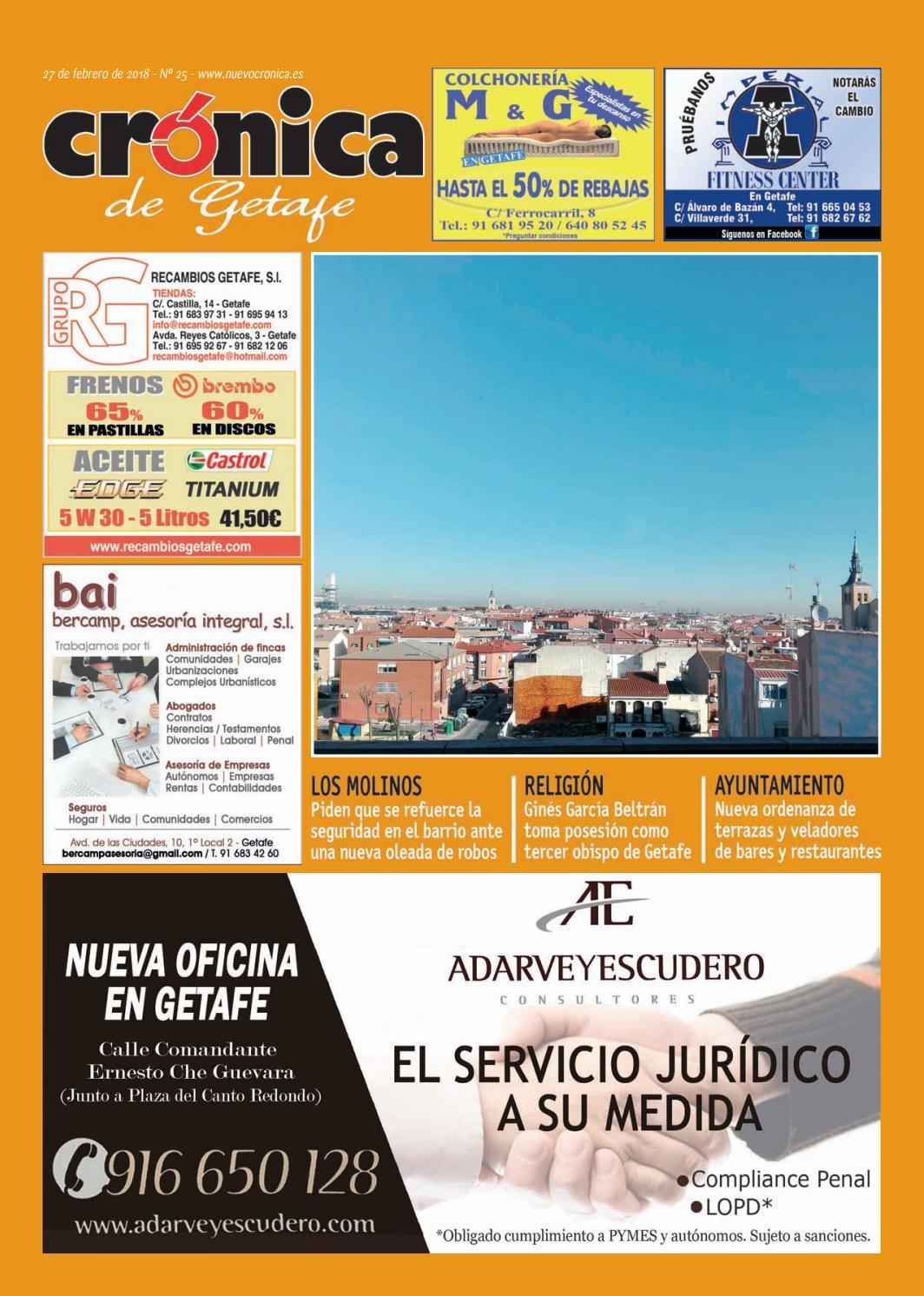 Cronica de Getafe Nº 25. 27 de febrero de 2018 by Crónica - issuu