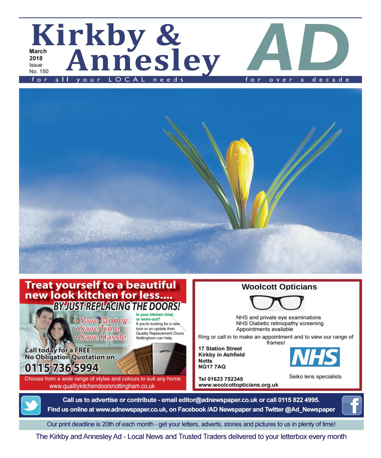 Ad Newspaper for Kirkby in Ashfield, Mansfield, Nottingham March ...
