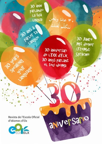 Revista 30 Aniversario Eoi Elx By Eoielx Issuu