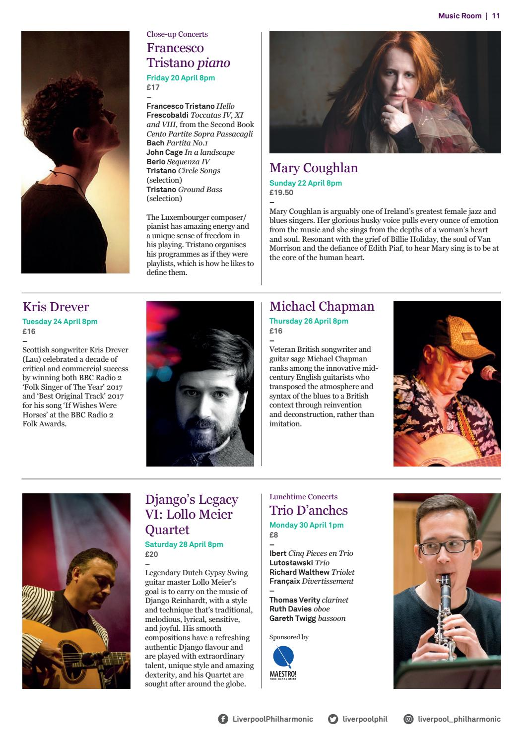 Whats on Guide April - August 2018 by Liverpool Philharmonic - issuu