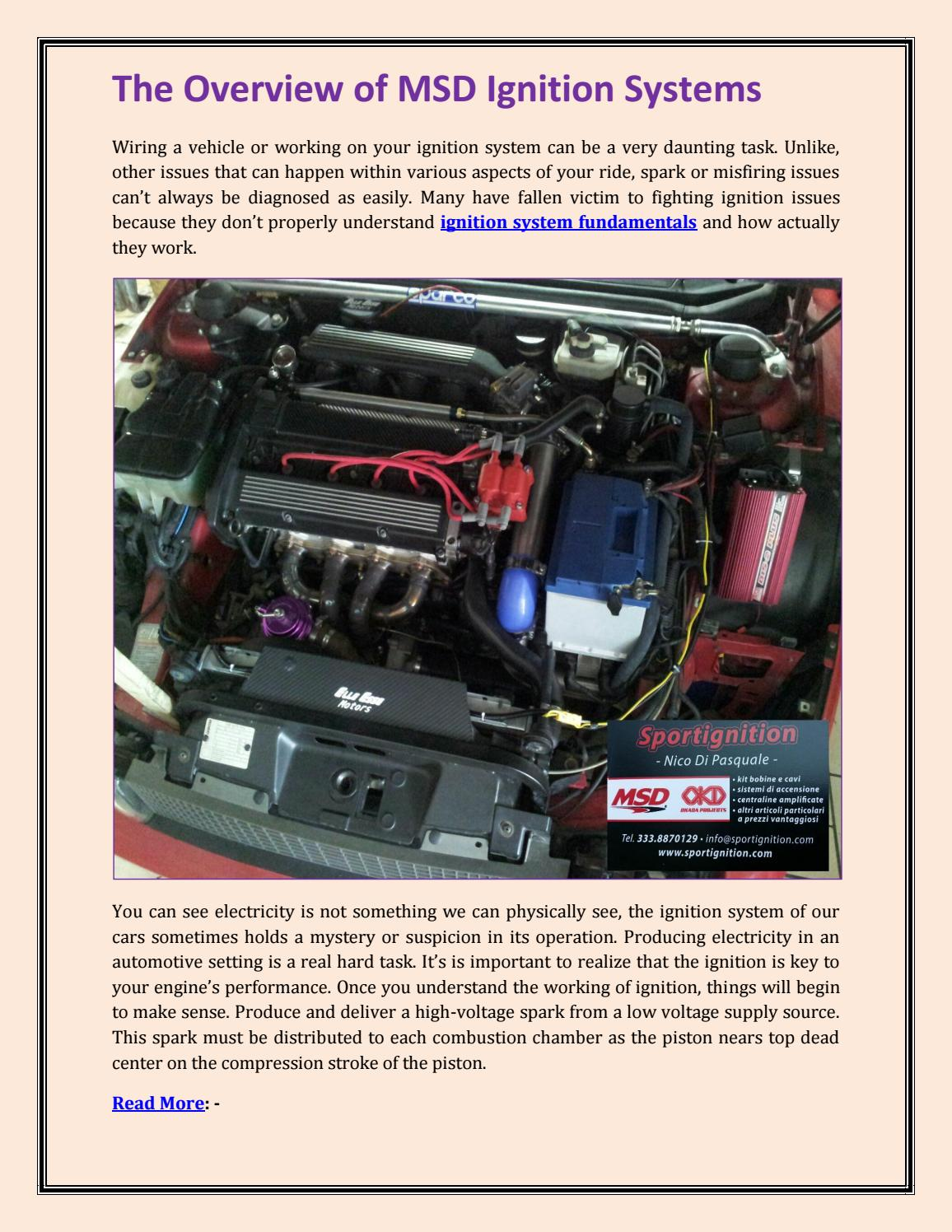 The overview of msd ignition systems by Marry Losan - issuu