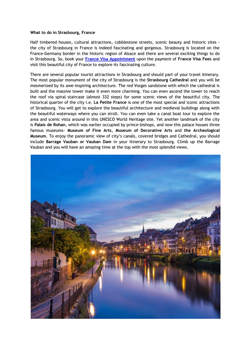 What to do in strasbourg, france by visasfrance - issuu