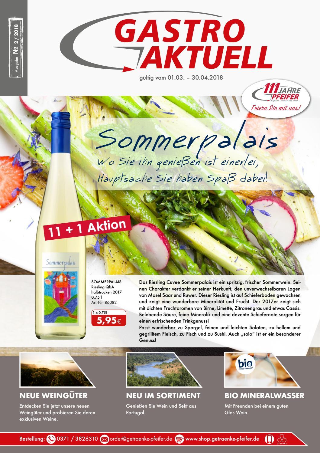 Gastro Aktuell - Ausgabe 2 / 2018 by Getränke Pfeifer GmbH - issuu