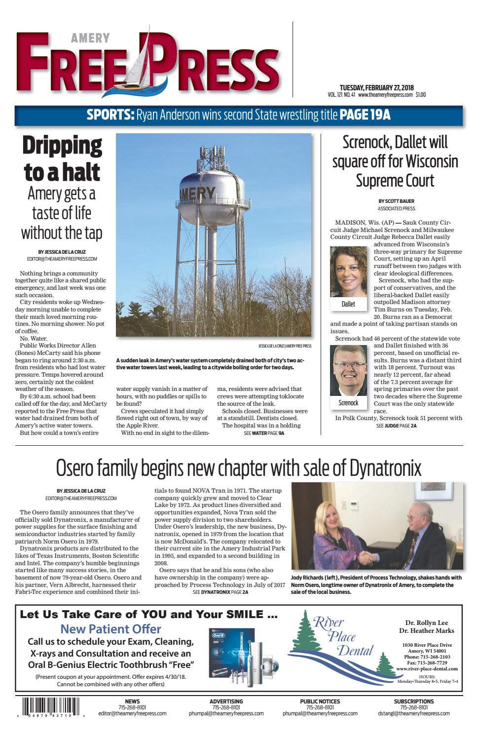 Afp 2 27 18 By Amery Free Press Issuu Ttec4841 Electrical Corey Leonard April 2011