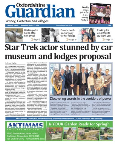 01 March 2018 Oxfordshire Guardian Witney By Taylor Newspapers Issuu