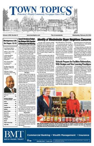 Town Topics Newspaper February 28, 2018 by Witherspoon Media Group