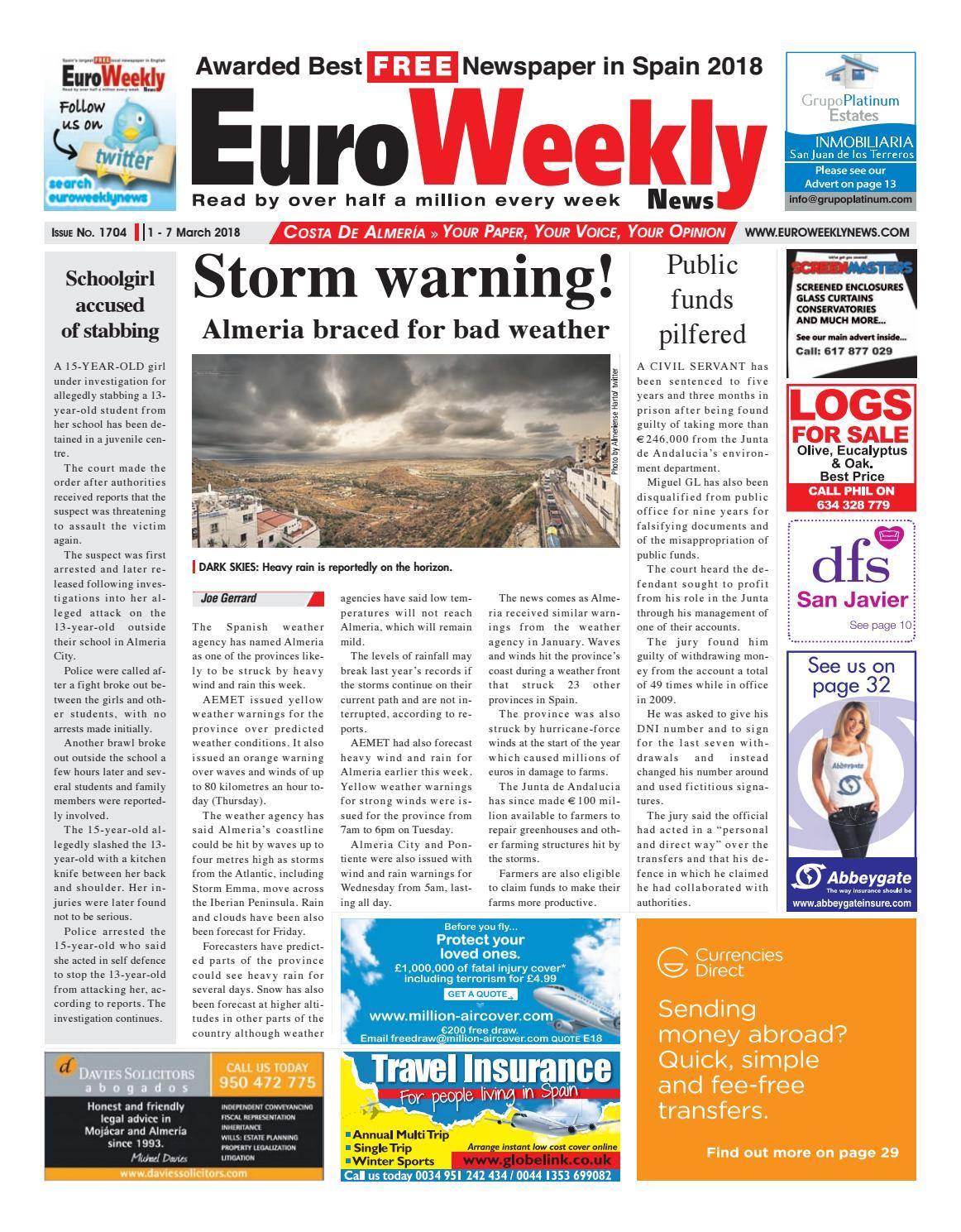 Euro Weekly News - Costa de Almeria 1 - 7 March 2018 Issue 1704 by ...