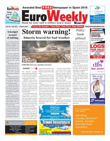 Euro weekly news costa de almeria 1 7 march 2018 issue 1704 by page 1 fandeluxe Image collections