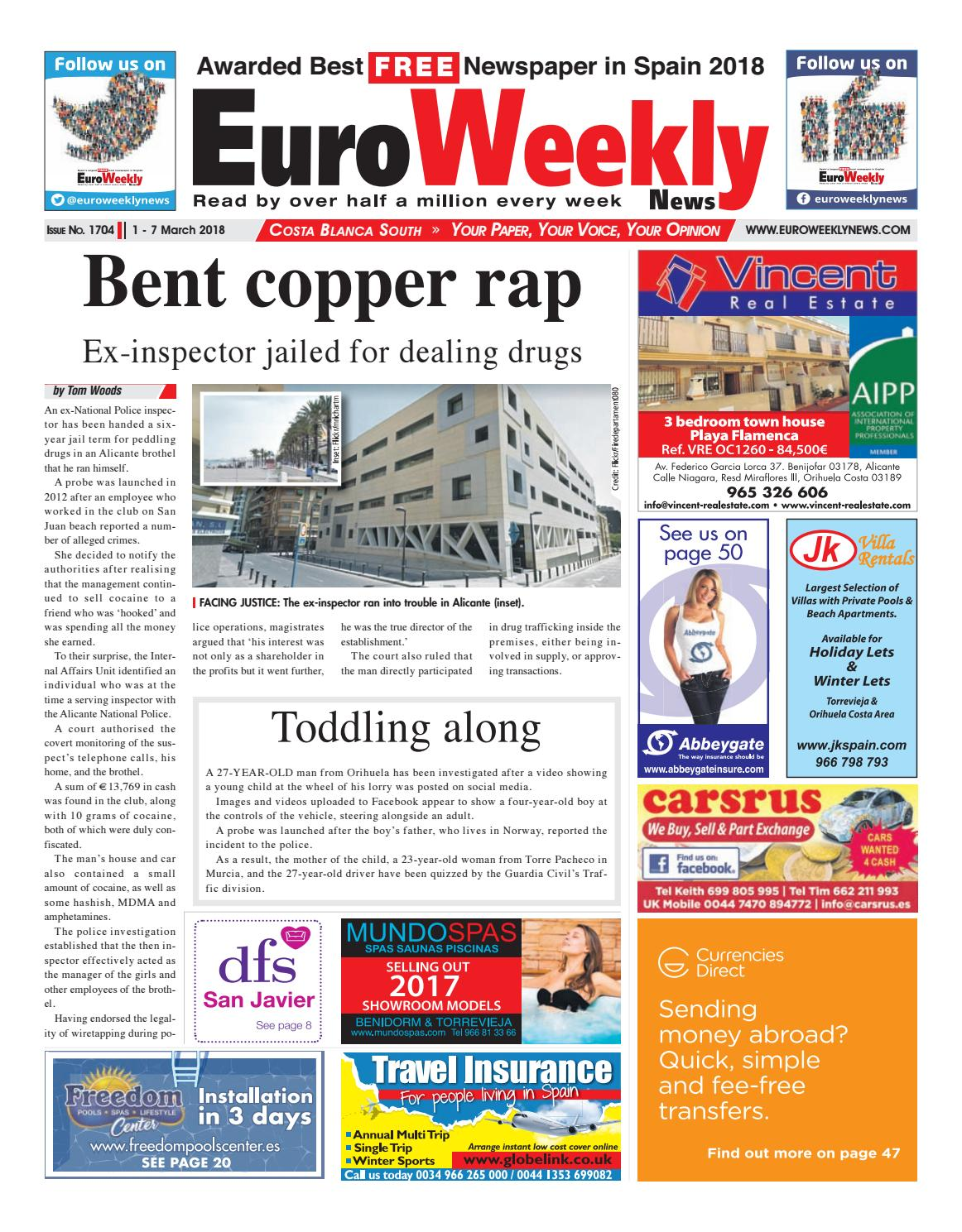 bde538268b033 Euro Weekly News - Costa Blanca South 1 - 7 March 2018 Issue 1704 by Euro  Weekly News Media S.A. - issuu