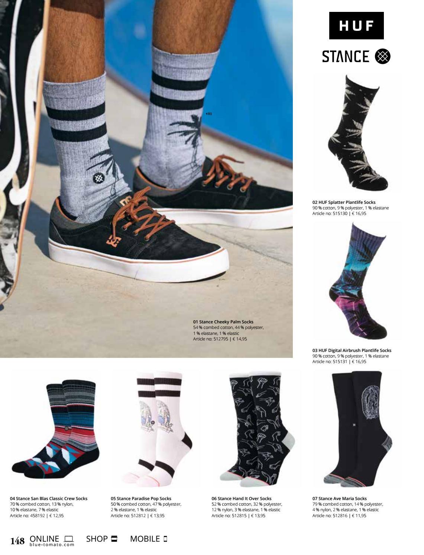 Blue Stance Pop Palms Socks