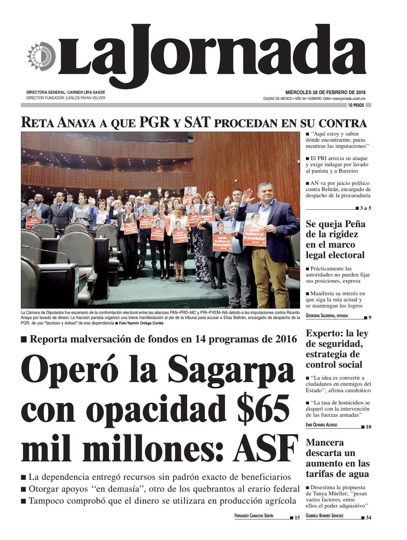 La Jornada 02 28 2018 By La Jornada Demos Desarrollo De Medios  # Vacantes Muebles Dico Guadalajara