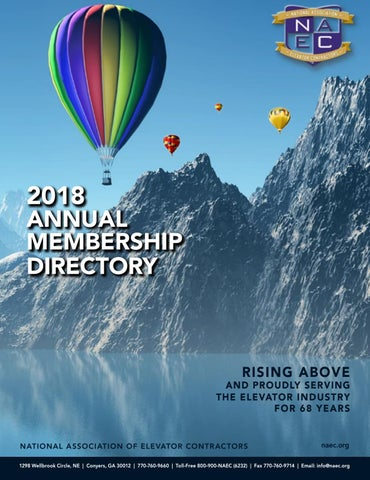 8472e68a4ea1 2018 NAEC Membership Directory by National Association of Elevator ...