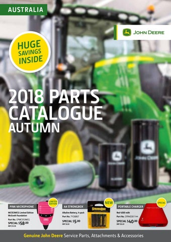 2018 John Deere Autumn Parts Catalogue by Hutcheon and
