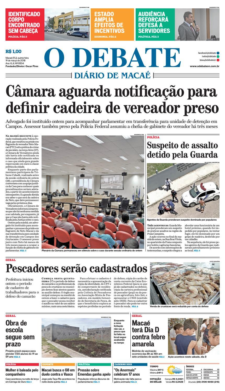 Edição 9504 01 03 2018 by O DEBATE Diario de Macae - issuu 878e2e9e367ca