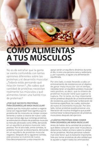 Page 5 of Cómo alimentas a tus músculos.