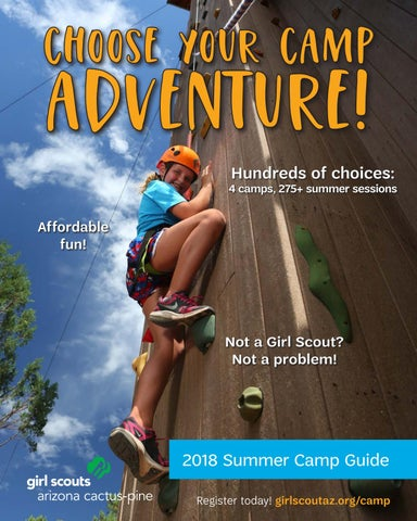 467ffe46873c Girl Scouts Summer Camp Brochure 2018 by Girl Scouts–Arizona Cactus ...