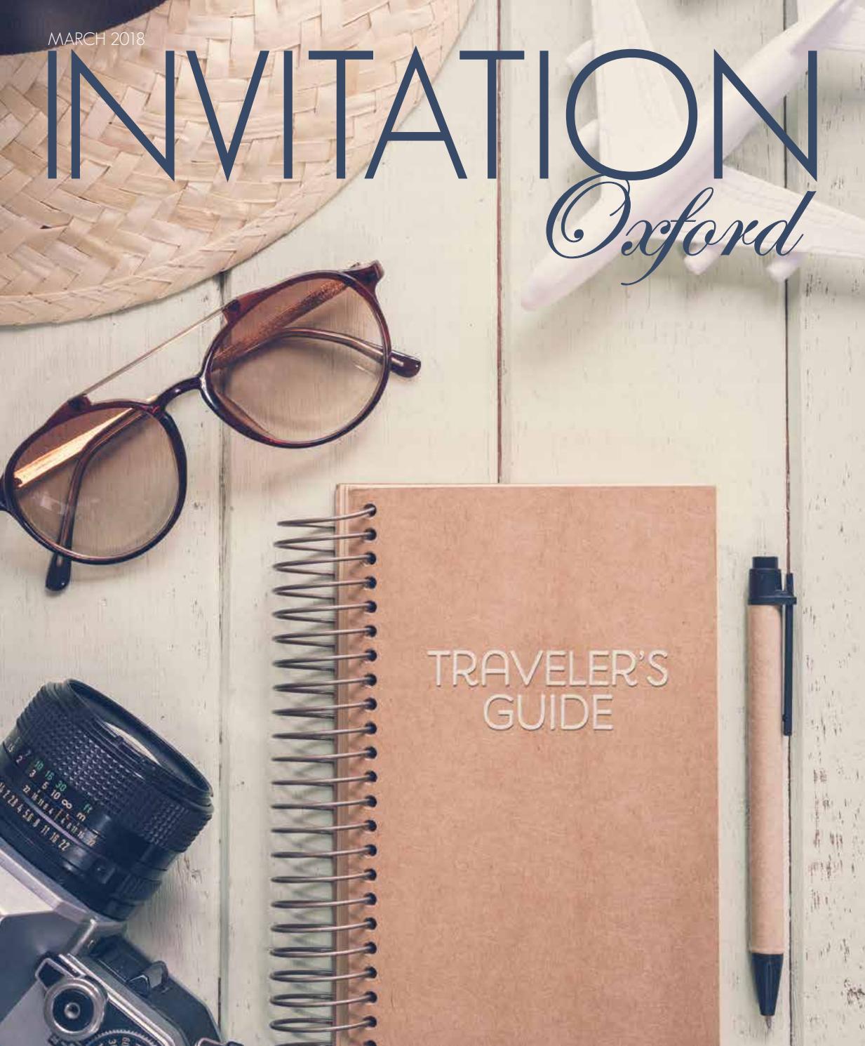 Invitation Oxford - March 2018 by Invitation Magazines - Issuu