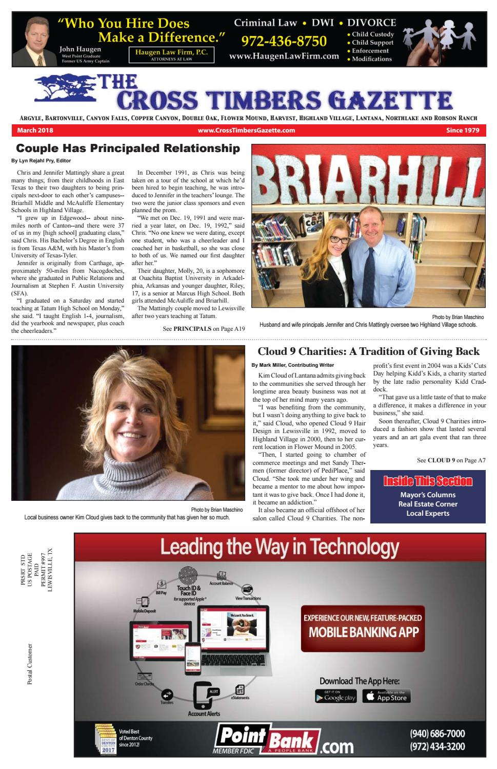 The Cross Timbers Gazette March 2018 by The Cross Timbers