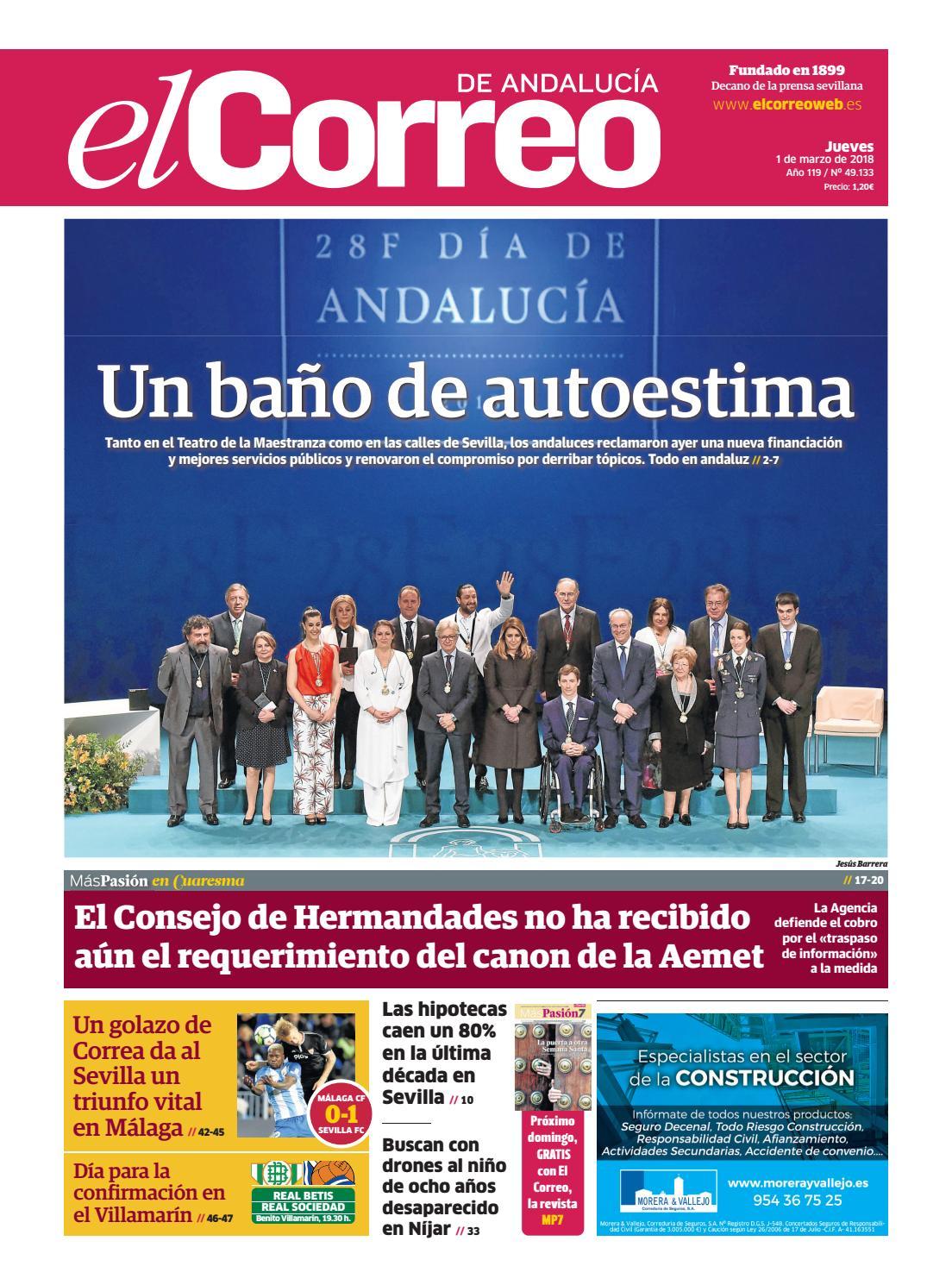 outlet store af851 ecfb7 01.03.2018 El Correo de Andalucía by EL CORREO DE ANDALUCÍA S.L. - issuu