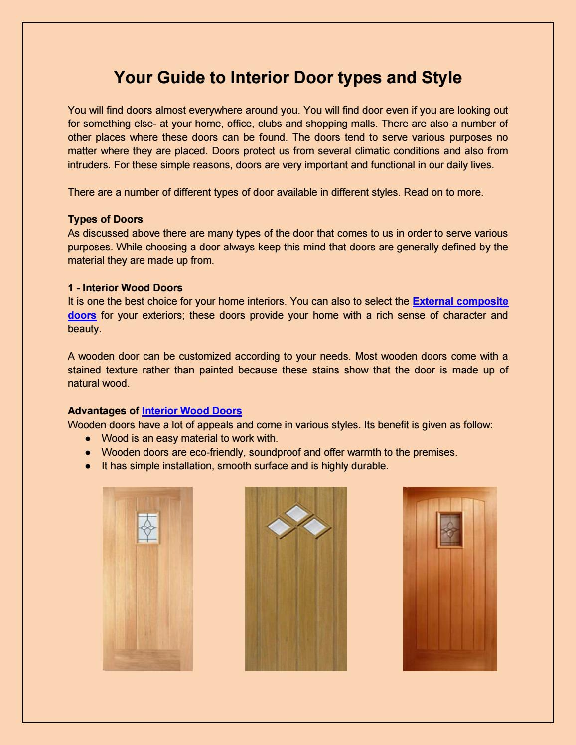 Your Guide To Interior Door Types And Style By Fine Doors Issuu
