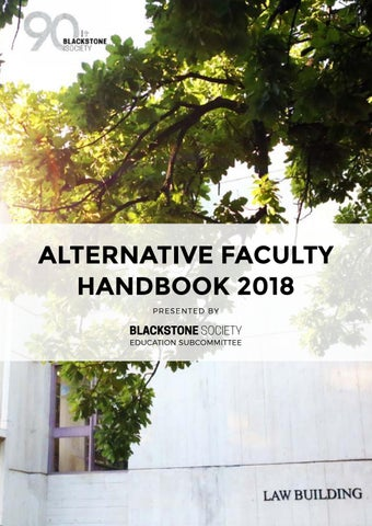 Alternative Faculty Handbook 2018 by Blackstone Society - issuu