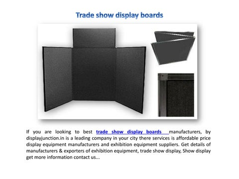 Exhibition Stand Information : Portable display stand by display junction issuu