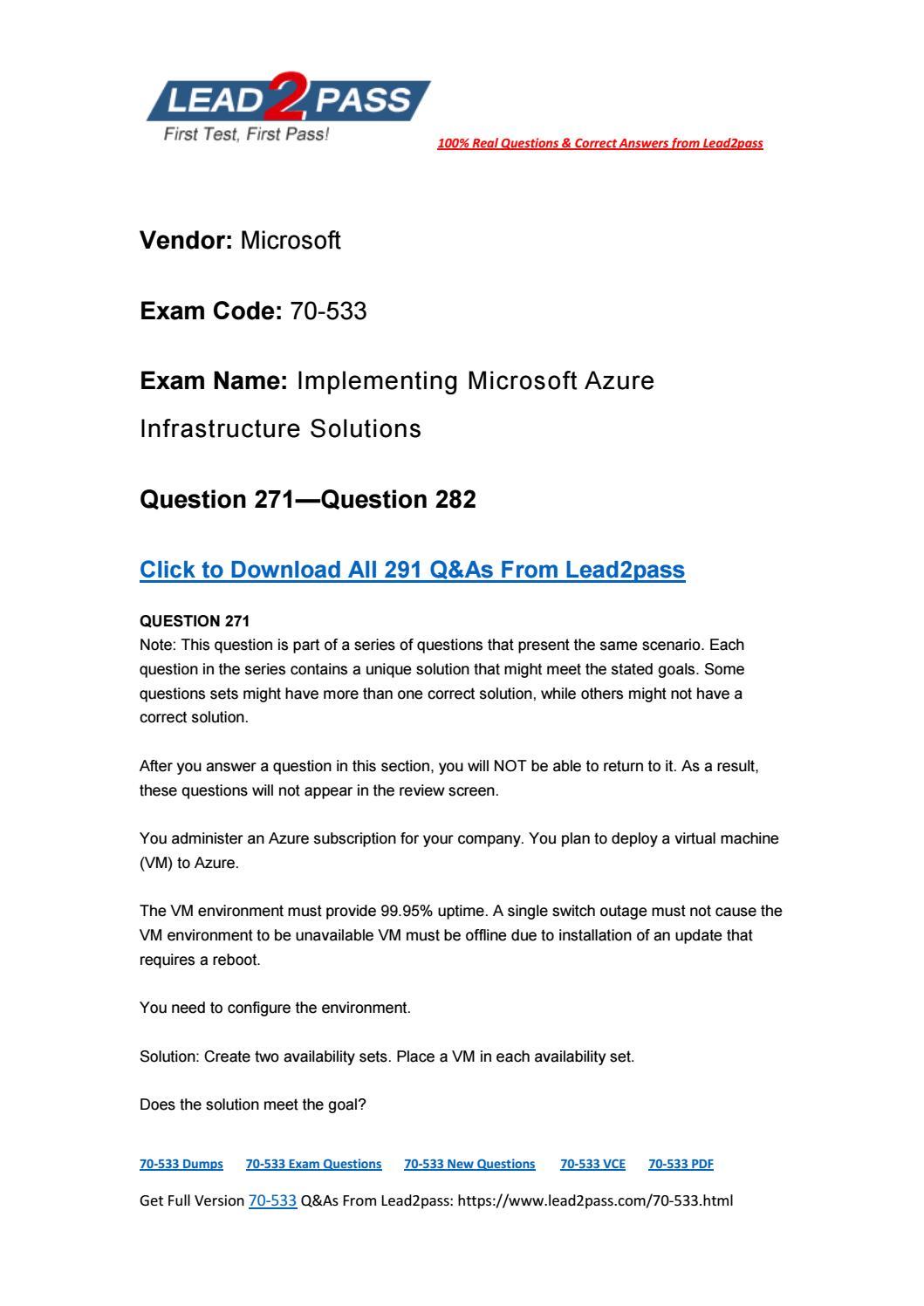 70 533 exam dumps pdf 2018 free download