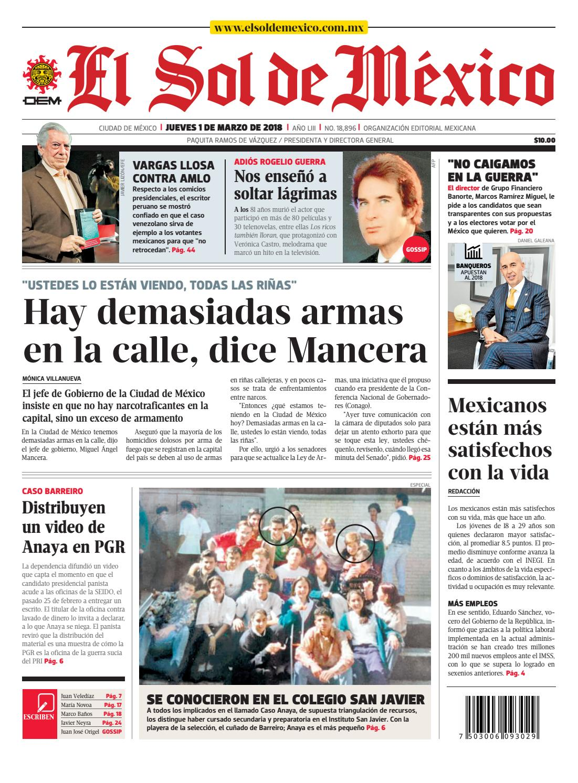 El Sol de México 1 de marzo de 2018 by El Sol de México - issuu 2b90465443f