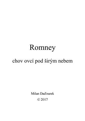 Romney - chov ovcí pod širým nebem by MDadourek - issuu 133c7edc472