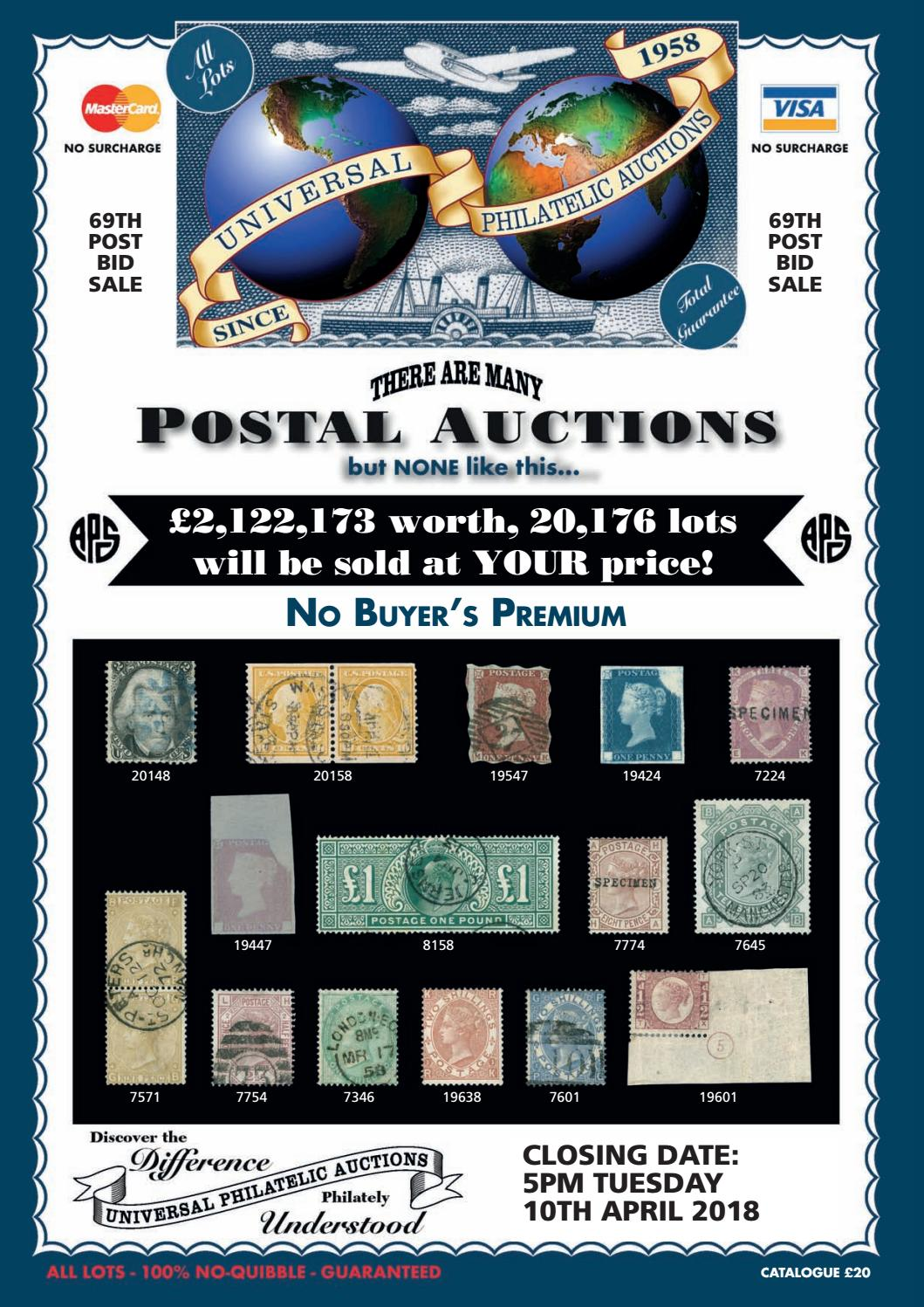 e2d6a0525e1 Universal Philatelic Auctions by Auction Technology Group - issuu